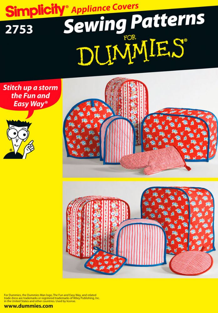 2753 Simplicity Pattern Kitchen Accessories Sewing For Dummies